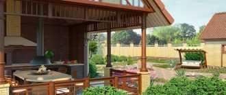 Летняя кухня на даче: как построить своими руками